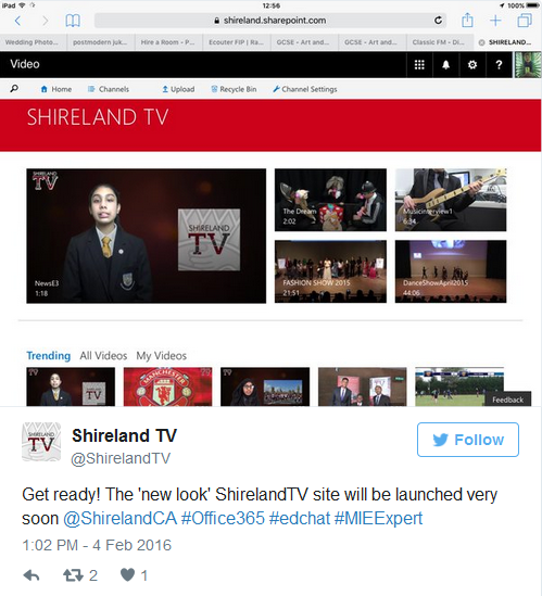 a screengrab showing a tweet about Shireland TV