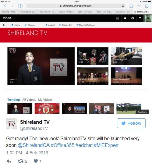 a screengrab showing a tweet about Shireland TV