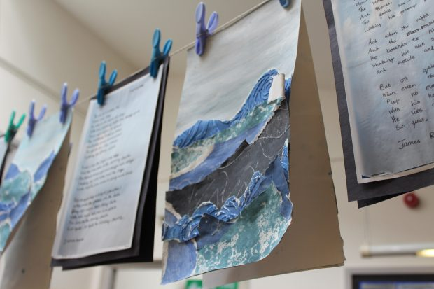 Display of pupils' work in classroom