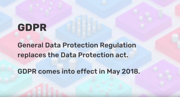Screenshot from the Guide to the GDPR video