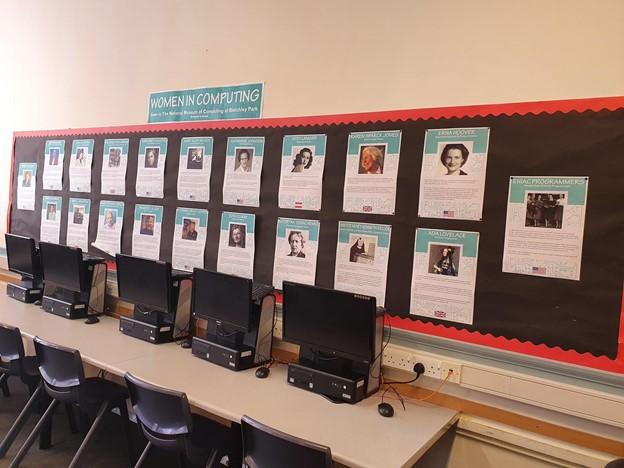 A school computer classroom