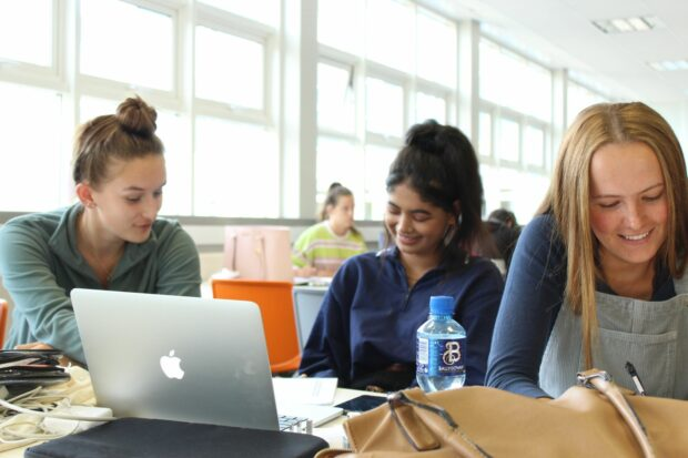 girls learning
